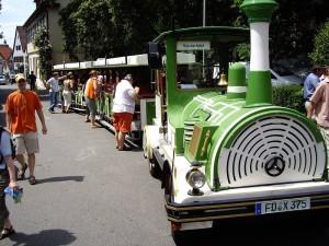 Die Bimmelbahnstation in Birkach