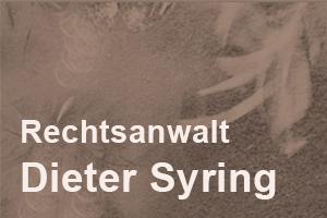 Rechtsanwalt Dieter Syring