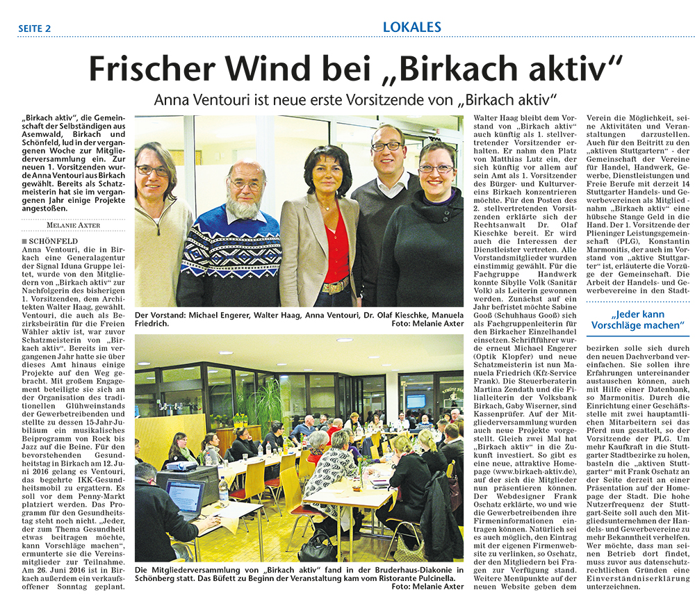 Stuttgarter Wochenblatt 16. März 2016